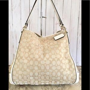 Coach Madison Phoebe Shoulder Bag canvas/leather